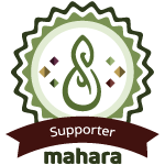 Logo for approved Mahara Supporters